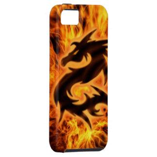 Dragão flamejante capa tough para iPhone 5