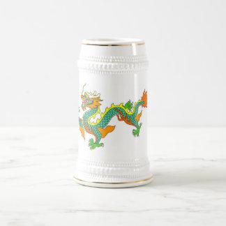 dragão, imperial, deus, deusa, senhor, porcelana, caneca de cerveja