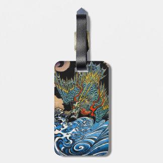 Dragão legendário antigo japonês oriental legal etiqueta de mala