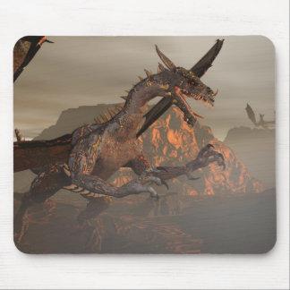 Dragão Mousepad do fogo