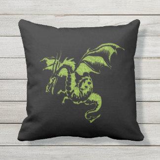 Dragão verde almofada