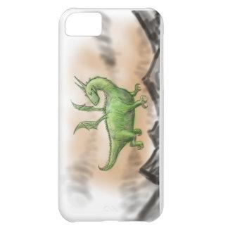 Dragão verde carnudo dos desenhos animados capa para iPhone 5C