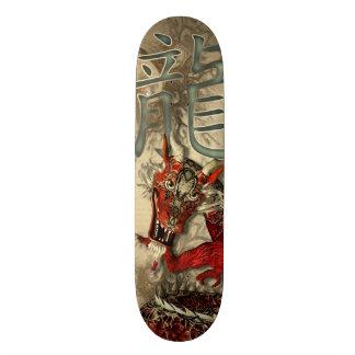 Dragão vermelho chinês shape de skate 20cm
