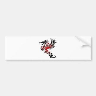Dragão vermelho e preto adesivo para carro