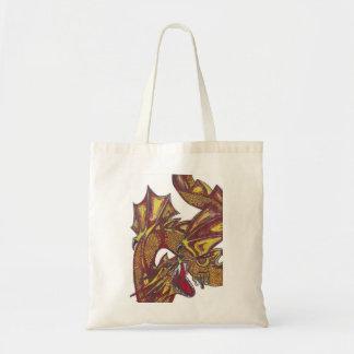 Dragão vermelho no saco bolsa para compra