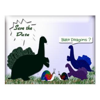 Dragões do bebê? cartão postal