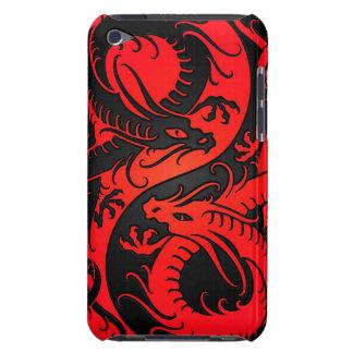Dragões vermelhos e pretos do chinês de Yin Yang Capa Para iPod Touch