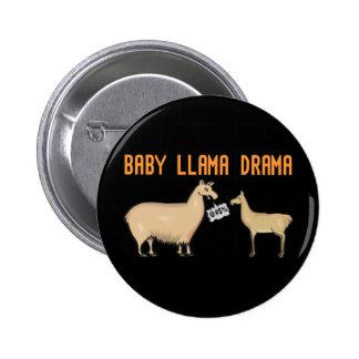 Drama do lama do bebê bóton redondo 5.08cm