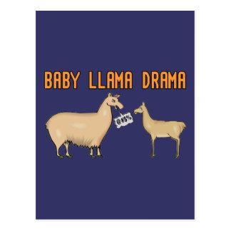 Drama do lama do bebê cartão postal