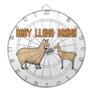 Drama do lama do bebê tablero dardos
