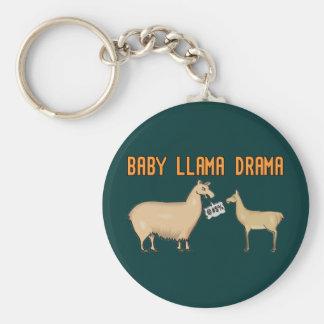 Drama do lama do bebê chaveiros