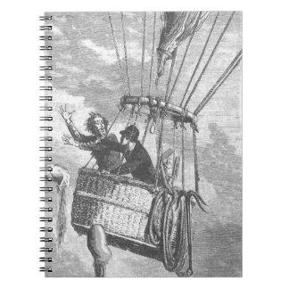 Drama em um balão de ar quente cadernos espirais