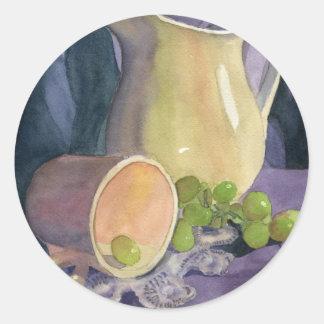 Drapeja e uvas adesivo