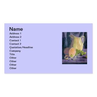 Drapeja e uvas cartão de visita