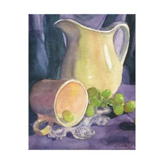 Drapeja e uvas impressão em tela