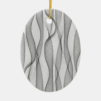 Drapeje Ornamento De Cerâmica Oval