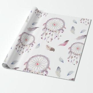 Dreamcatchers & papel de papel de embrulho das