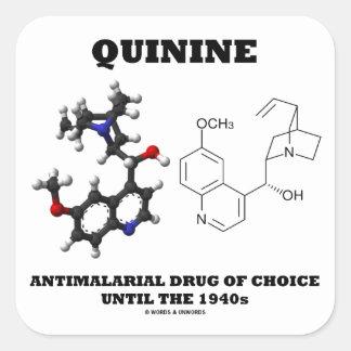 Droga antimalárica do quinino da escolha até 1940 adesivos quadrados