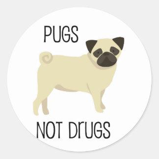 Drogas dos Pugs não Adesivo