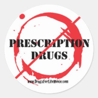 Drogas para a etiqueta redonda da vida adesivo