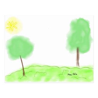Duas árvores cartão postal