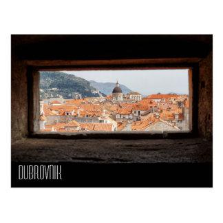 Dubrovnik das paredes da cidade cartão postal