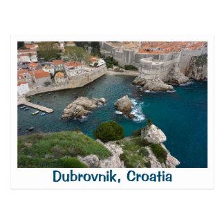 Dubrovnik de cima de cartão postal