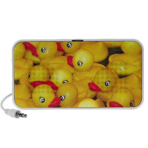 Duckies de borracha amarelos bonitos caixinha de som portátil