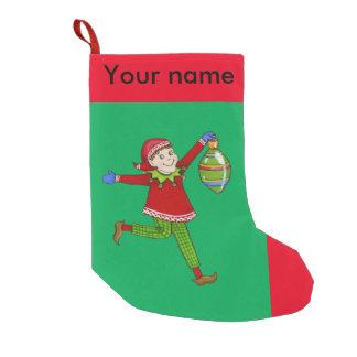 """Duendes do tinir, meia do Natal de """"Skippy"""" Meia De Natal Pequena"""