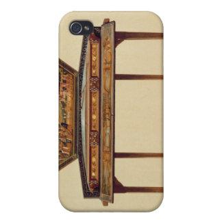 Dulcimer martelado em um soundbox pintado, 18o cen capas iPhone 4