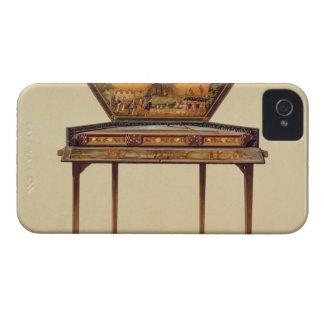 Dulcimer martelado em um soundbox pintado, 18o cen iPhone 4 capa