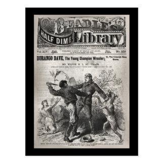 Durango Dave - biblioteca 1904 da moeda de dez cen Cartao Postal