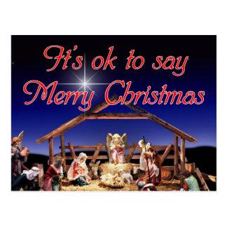É aprovado dizer o cartão do Feliz Natal Cartões Postais