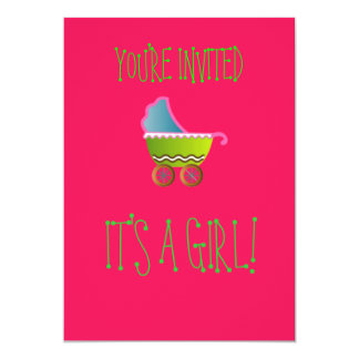 É convites de um bebê da menina!