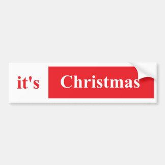 É etiqueta do Pumper do Natal Adesivo Para Carro