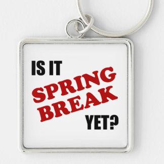 É férias da primavera ainda chaveiro quadrado na cor prata