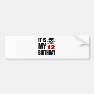 É meu 12 designs do aniversário adesivo de para-choque