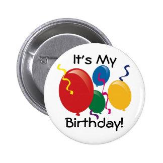 É meu aniversário!  Botão Bóton Redondo 5.08cm