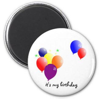 é meu aniversário ímã redondo 5.08cm