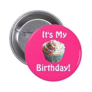 É meu botão do aniversário bóton redondo 5.08cm