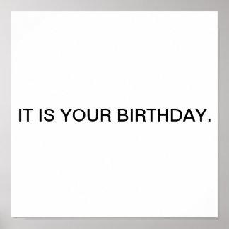 É seu aniversário pôster