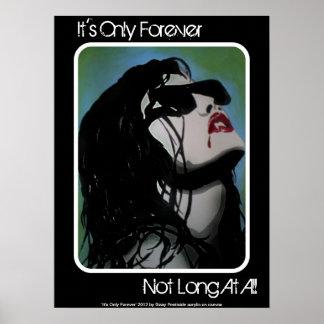 É somente para sempre poster do vampiro