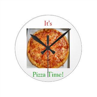 É tempo da pizza! relógio para parede