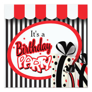 É um aniversário do 80 da festa de aniversário | convite quadrado 13.35 x 13.35cm