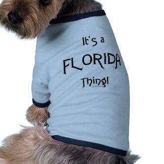 É uma coisa de Florida! Roupa Pet