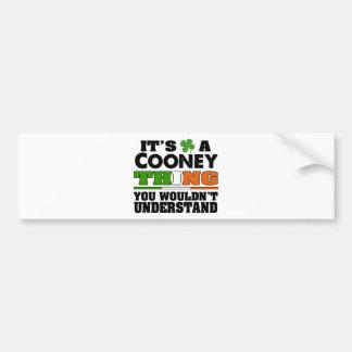 É uma coisa que de Cooney você não compreenderia Adesivo Para Carro