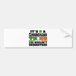É uma coisa que de Cunningham você não Adesivo Para Carro