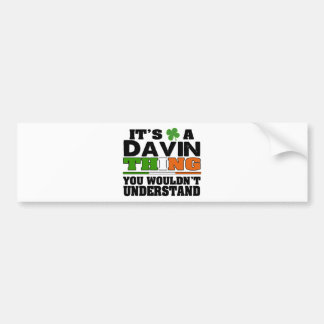 É uma coisa que de Davin você não compreenderia Adesivo Para Carro