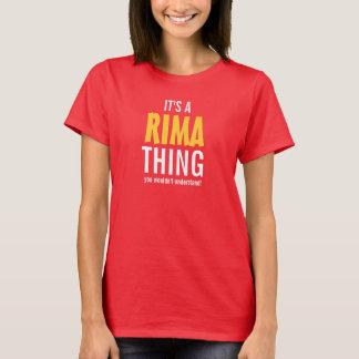 É uma coisa que de Rima você não compreenderia! T-shirts