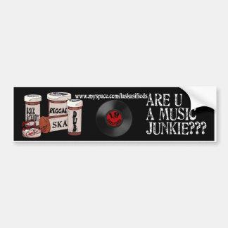 É você um toxicómano da música? adesivos